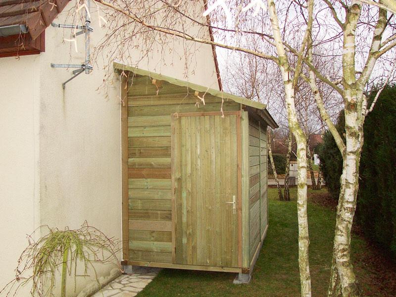 Abri bois gamme hirondelle abri de jardins en bois abri la romagne - Construire un toit 1 pente ...
