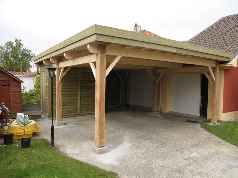 fabriquer carport toit plat maison design. Black Bedroom Furniture Sets. Home Design Ideas