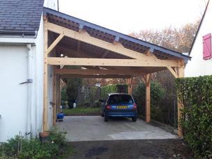 Pr au auvent carport constructions bois abri la romagne for Faire racheter sa voiture par un garage