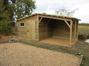 abri bois gamme hirondelle abri de jardins en bois. Black Bedroom Furniture Sets. Home Design Ideas