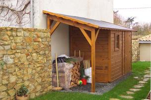 Abri bois gamme hirondelle abri de jardins en bois abri la romagne - Couvrir abri de jardin ...