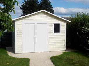 Abri de jardin pvc vinyle abri la romagne fabricant for Porte pour abri de jardin en pvc