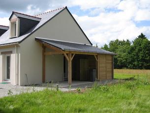 pr au auvent carport constructions bois abri la romagne. Black Bedroom Furniture Sets. Home Design Ideas