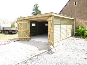 La gamme hirondelle abri la romagne fabricant abri bois for Garage en bois a toit plat