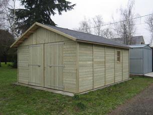 La gamme kiwi abri la romagne fabricant abri bois for Garage bois autoclave