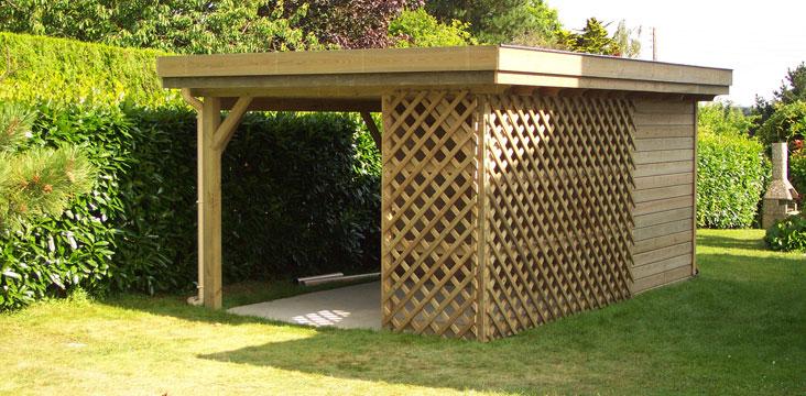 abri la romagne fabricant d 39 abri de jardin constructions bois cabanes pr au auvent et carport. Black Bedroom Furniture Sets. Home Design Ideas