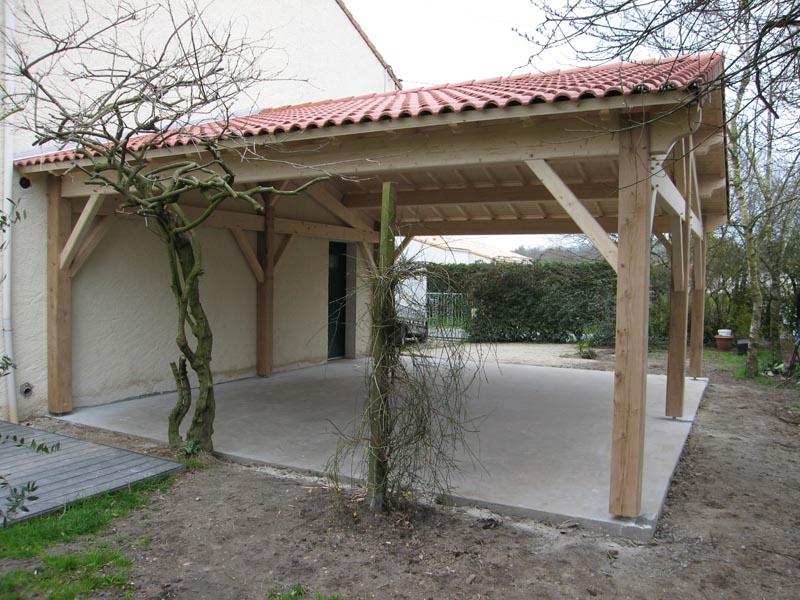 baskets pour pas cher dad2d 1ff67 Préau, Auvent, Carport : Constructions Bois - Abri La Romagne