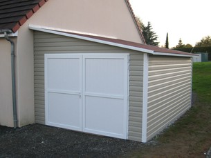Garage PVC accolé 337x525
